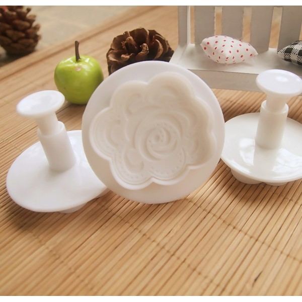 Baking Tool 3D Rose Cookie Cutter, 3PCs/Set