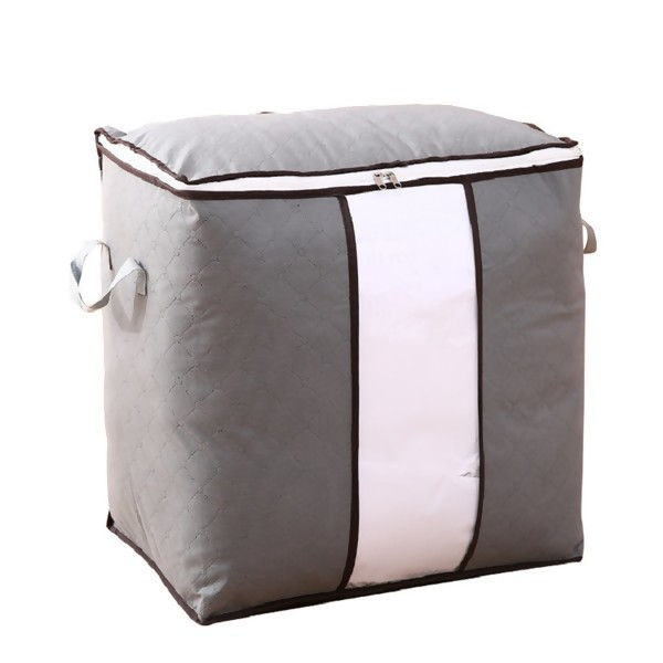 Non-woven Portable Clothes Storage Bag Organizer 90L Folding Closet Organizer For Pillow Quilt Blanket Bedding