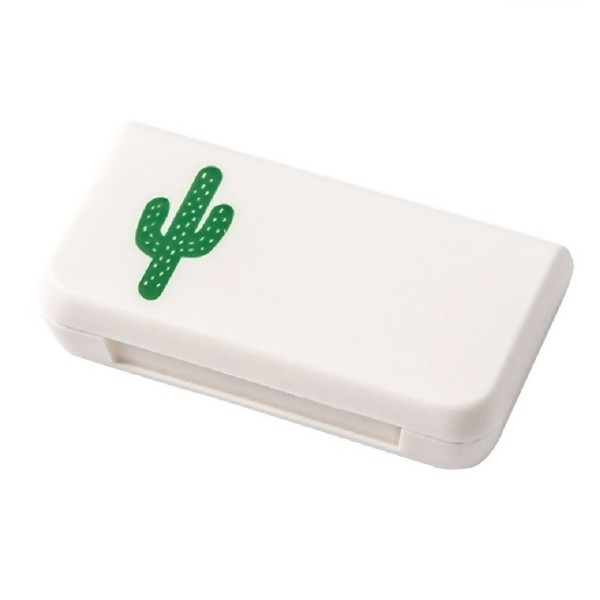 Cactus Mini Pill Case Portable Medicine Boxes 3 Grids Travel Home Medical Drugs Tablet Empty Container Storage Box