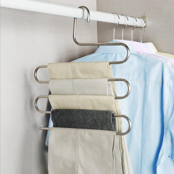 Stainless Steel Multi tier Hanger, Silver, 1PC